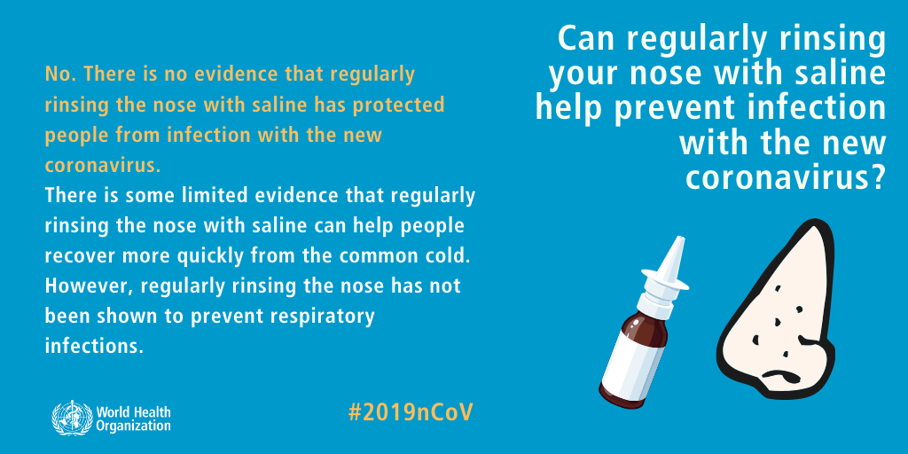 Can regularly rinsing your nose with saline help prevent infection with the new coronavirus? Coronavirus Outbreak