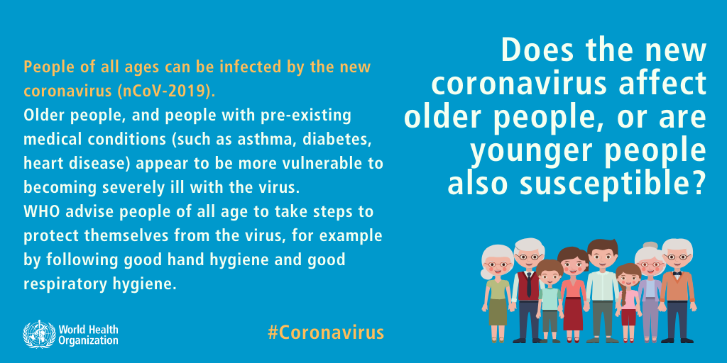 Does the new coronavirus affect older people, or are younger people also susceptible? Coronavirus Outbreak