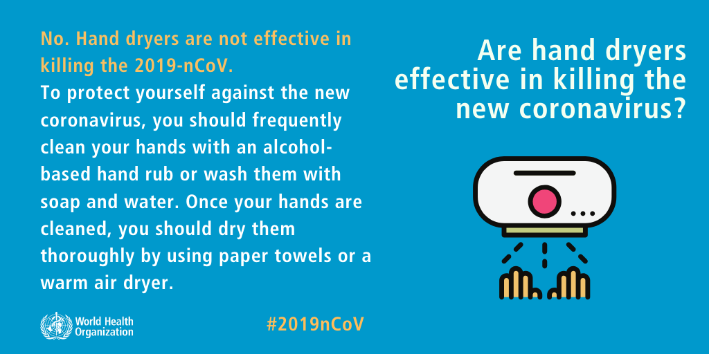 Are hand dryers effective in killing the new coronavirus? Coronavirus Outbreak