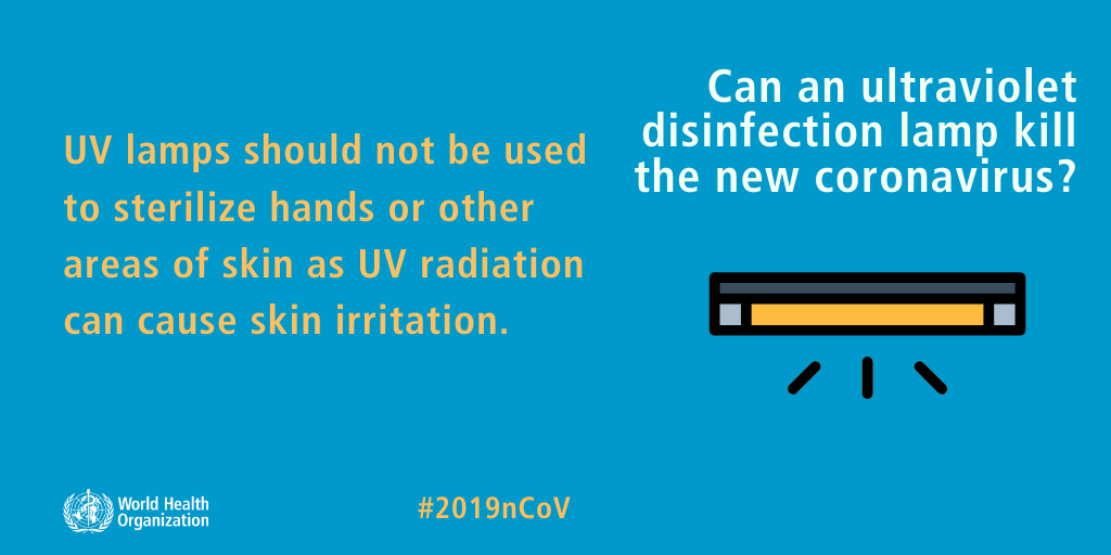 Can an ultraviolet disinfection lamp kill the new coronavirus? Coronavirus Outbreak